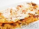 Рецепта Омлет с гъби печурки и настъргани картофи на тиган